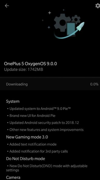 oneplus 5t android pie
