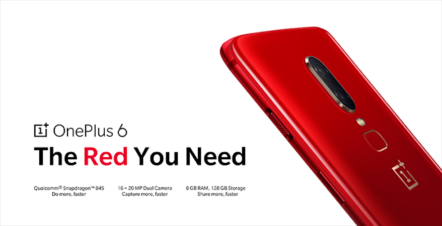 Oneplus sort une version red édition du Oneplus 6