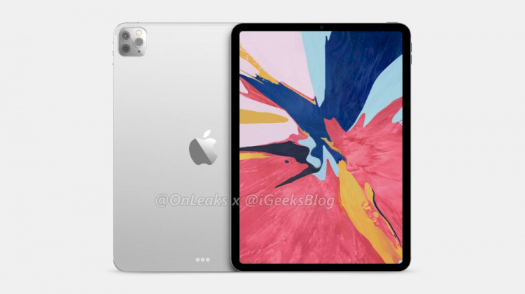 Renderings based on claimed design leaks show iPads 2020 with triple rear cameras